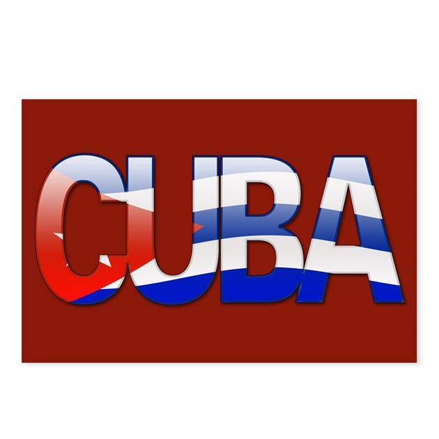 """""""Cuba Bubble Letters"""" Postcards (Package of 8) by thelaststraw"""