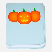 Three Pumpkins baby blanket