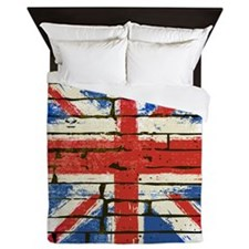 Grunge British Flag Queen Duvet