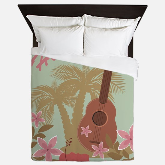 Vintage Hawaiian Queen Duvet