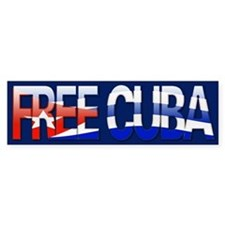 """Free Cuba Bubble Letters"" Bumper Bumper Sticker"