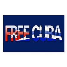 """""""Free Cuba Bubble Letters"""" Rectangle Decal"""