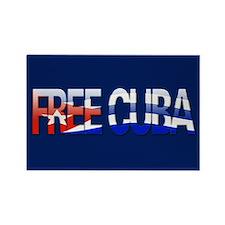 """""""Free Cuba Bubble Letters"""" Rectangle Magnet"""