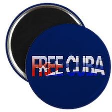 """""""Free Cuba Bubble Letters"""" Magnet"""