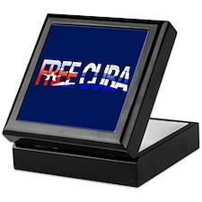 """Free Cuba Bubble Letters"" Keepsake Box"