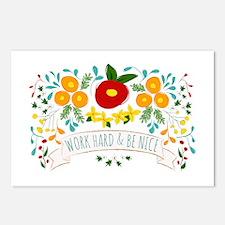 Work Hard Be Nice Postcards (Package of 8)
