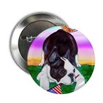Bowing Boston Terrier Button