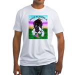 Bowing Boston Terrier Fitted T-Shirt