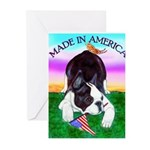 Bowing Boston Terrier Greeting Cards (Pk of 10
