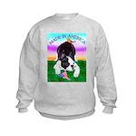 Bowing Boston Terrier Kids Sweatshirt