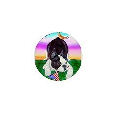 Bowing Boston Terrier Mini Button