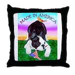 Bowing Boston Terrier Throw Pillow
