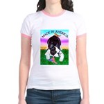 Bowing Boston Terrier Jr. Ringer T-Shirt