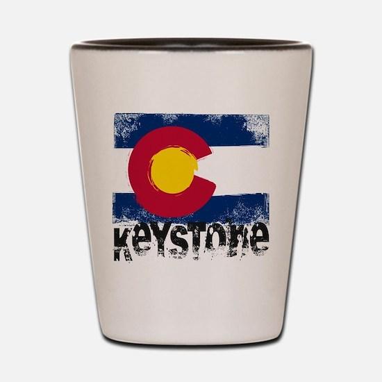 Keystone Grunge Flag Shot Glass