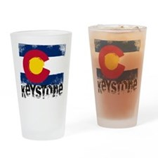 Keystone Grunge Flag Drinking Glass