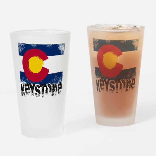 Keystone Grunge Flag Drinking Glass
