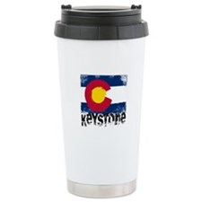 Keystone Grunge Flag Travel Coffee Mug
