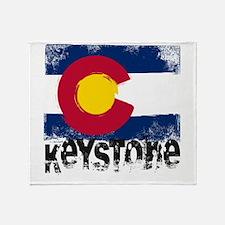 Keystone Grunge Flag Throw Blanket