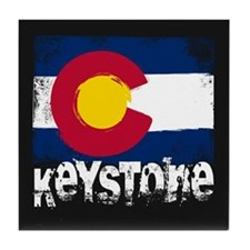 Keystone Grunge Flag Tile Coaster