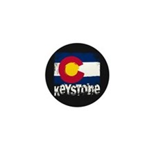 Keystone Grunge Flag Mini Button