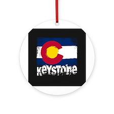 Keystone Grunge Flag Ornament (Round)