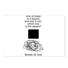 Blonde IQ Test Postcards (Package of 8)