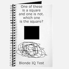 Blonde IQ Test Journal