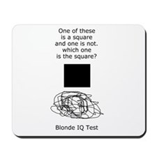 Blonde IQ Test Mousepad