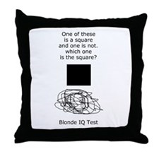 Blonde IQ Test Throw Pillow