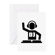 DJ Turntables music Greeting Card