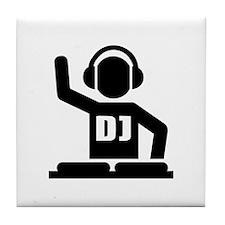 DJ Turntables music Tile Coaster