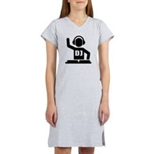 DJ Turntables music Women's Nightshirt