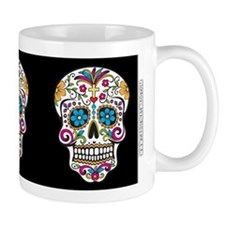 SugarSkull Halloween Black Mugs