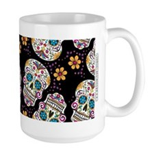Sugar Skull Halloween Black Mugs