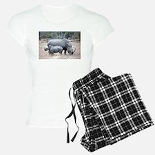 Mother and Baby Rhino Pajamas