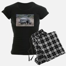 Mother and Baby Rhino Pajamas