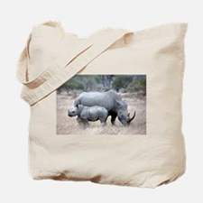 Mother and Baby Rhino Tote Bag