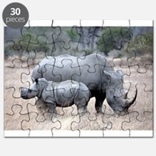 Mother and Baby Rhino Puzzle