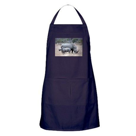 Mother and Baby Rhino Apron (dark)
