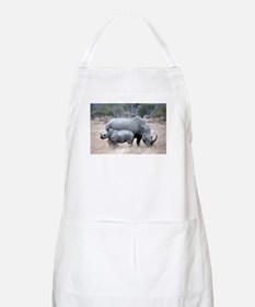 Mother and Baby Rhino Apron
