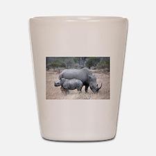 Mother and Baby Rhino Shot Glass