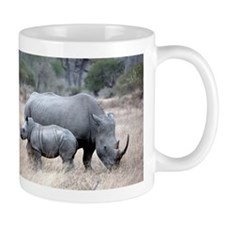 Mother and Baby Rhino Mugs
