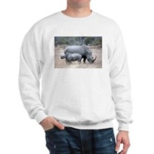 Mother and Baby Rhino Sweatshirt