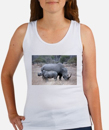 Mother and Baby Rhino Tank Top