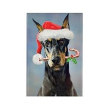 Doberman Christmas Magnets