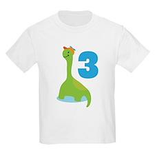 3rd Birthday Dino T-Shirt