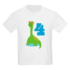 4th Birthday Dino T-Shirt