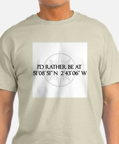 I'd rather be at - Glastonbury UK T-Shirt