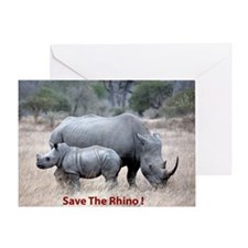 Save The Rhino Greeting Cards