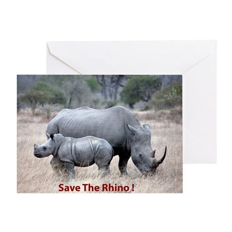 Save The Rhino Greeting Cards